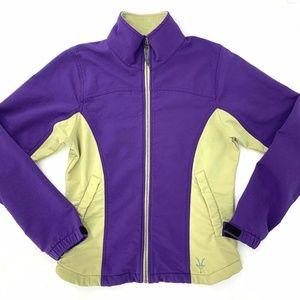 IBEX Cirque Purple Zip Jacket Schoeller Wool USA